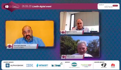 Fireside Chat 1: IBM – FINACLE: Ομιλητές: •Δημήτρης Πρίμπας, Διευθυντής Επιχειρηματικών και Συμβουλευτικών Υπηρεσιών, ΙΒΜ Ελλάδα και Κύπρος •James Buckley, VP & Director, Europe at Infosys Finacle